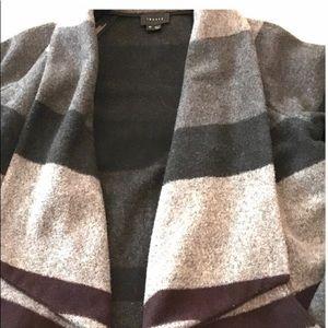 Theory wool open waterfall coat